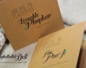 Loveable Phuphar OR Fun PuaJi Greeting card