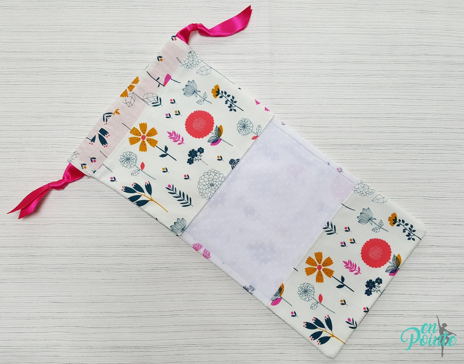 ballet pointe shoe bag - dance shoe bag - ballet bag | pink floral