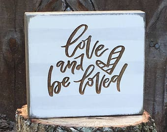 Photo Block 'Love And Be Loved'