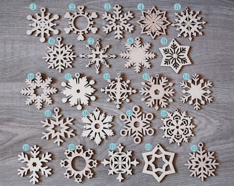 wooden snowflake christmas ornaments xmas snowflakes ornament christmas decoration christmas gifts for mom wooden box set 8 32 wooden decor