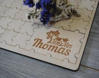 Puzzle Guest Book Wedding Alternative Guestbook Sign Jigsaw Wedding Guest Book Puzzle Personalized Wood Guest Book Sign Wedding Puzzle Wood