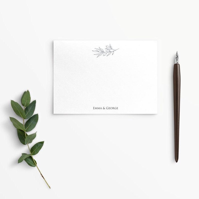 Laurel Branch Flat Notecards with NameNames