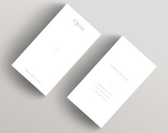 maison minimalist business card template business card etsy