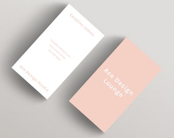 Ace Pink | Minimalist Business Card Template | Business Card Template