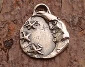 Moon and Stars Charm, Artisan Sterling Silver photo