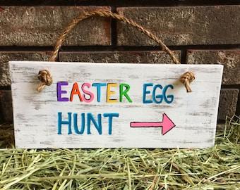 Easter Egg Hunt Wood Sign / Easter Sign / Egg Sign / Spring Sign / Easter decor / Spring decor