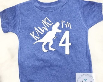 Boys 4th Birthday Tank Shirt Four Ever Wild Boy 4 Year
