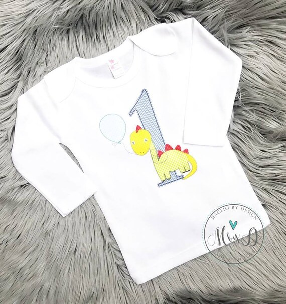 Personalized Dinosaur Birthday Shirt