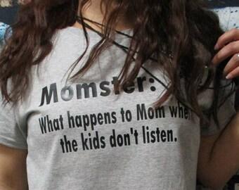 Momster Definition Shirt ~ Funny Mom Shirt ~ Shirts For Moms ~ Gifts For Moms ~ T Shirts For Mom ~ Funny Mom Gifts ~ Comfy Mom Tee Shirts ~