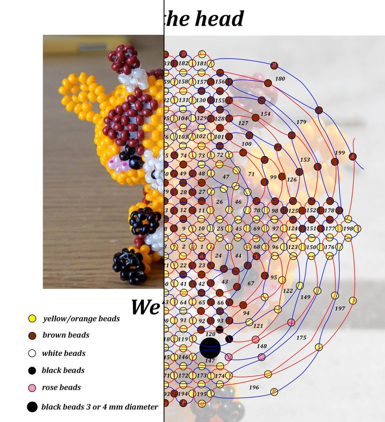 Bead Pattern Book ~10 Patterns with Illustrated Instructions