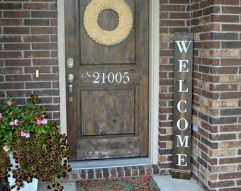 Welcome sign - Front Porch Decor - Farmhouse Decor - Farmhouse Sign