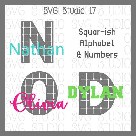 Svg Letters Svg Alphabet Square Ish Alphabet Set Svg Etsy