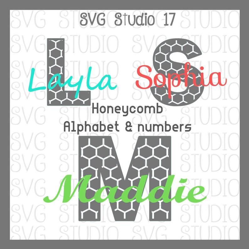 Honeycomb Alphabet Set, SVG Letters, SVG Fonts , svg File, dxf File, Cricut  Cut File, Silhoutte Cut File
