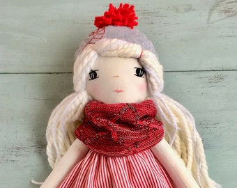 Sweet Candy Cane Handmade Doll