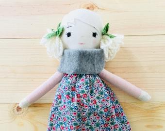 Green Polka Dot Bows Handmade Doll