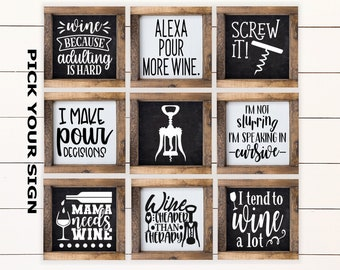 Wine Kitchen Decor Etsy