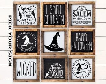 Basic Witch Farmhouse Wood SignRusticStarbucksHalloweenCoffee Bar