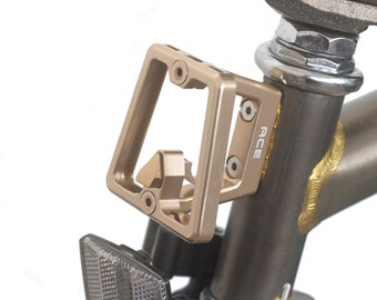 BROMPTON Front Carrier Block Super Lightweight Aluminum ROSE GOLD Raw Lacquer
