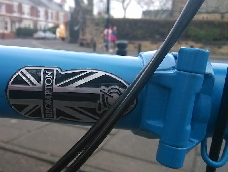 Metallic Head Tube Badge for BROMPTON Black