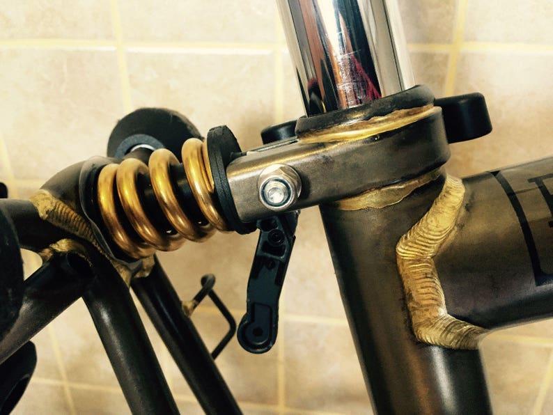 BROMPTON Suspension Extra Firm Titanium Coil Spring BLACK SLIVER GOLD RAINBOW