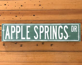 Custom Street Signs, Street Sign, Personalized Street Sign, Distressed signs, Wood Signs, New Home Housewarming Gift, Wooden Signs