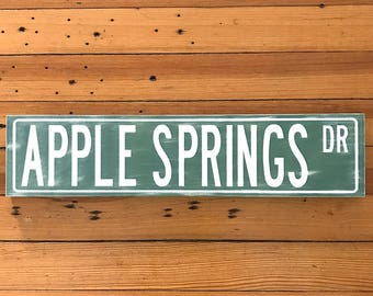 Personalized Street Sign, Housewarming Gift, New Home Sign, Road Signs, New Home Housewarming Gift, Wooden Sign