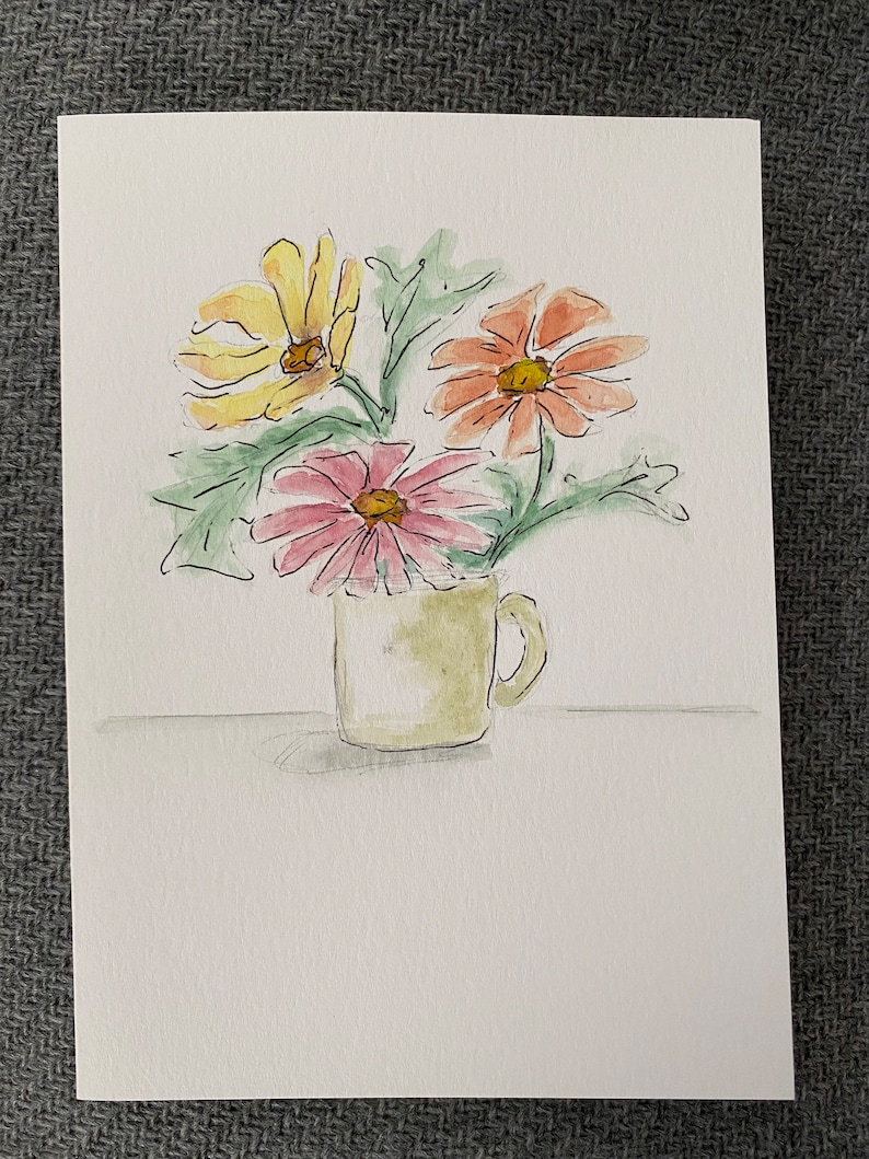 Set of 3 Blank Note Cards with envelopes.