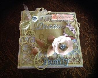 Dream / Family Handmade 3D Scrapbook