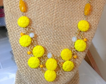 Sunny Spring Inspired Statement Necklace