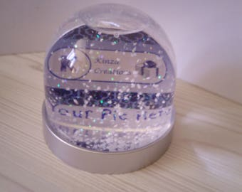 Personalized Snow Globe Etsy