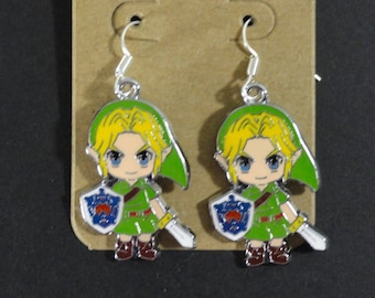 Link The Legend of Zelda Majora's Mask Charm Dangle Earrings Anime Video Game Jewelry