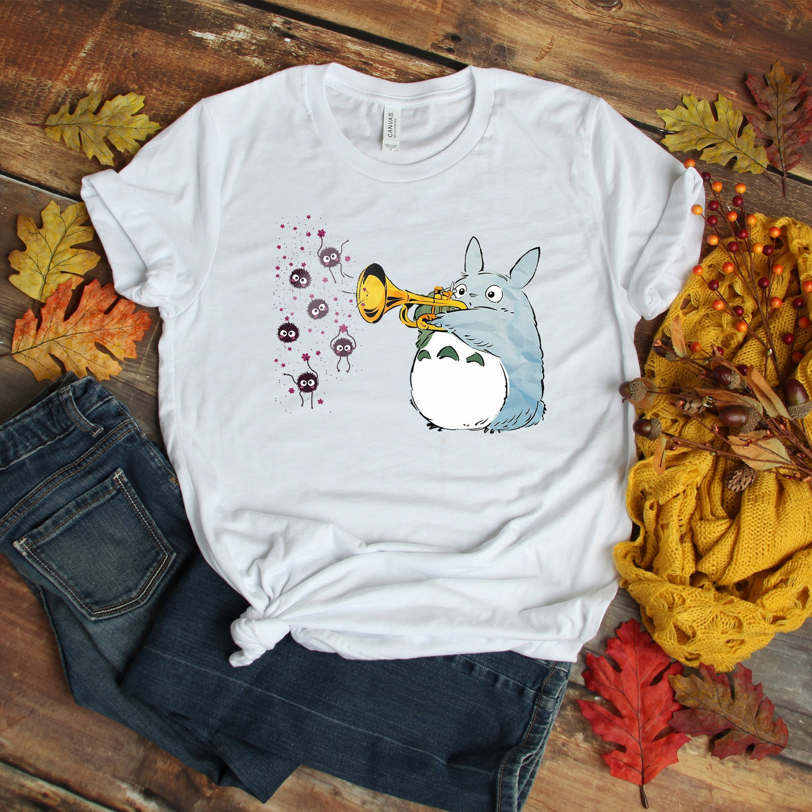 Cute Totoro Women T-Shirt, Studio Ghibli T-Shirt