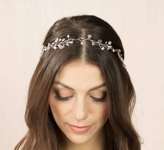 Crystal wreaths headband  Wedding hair wreath