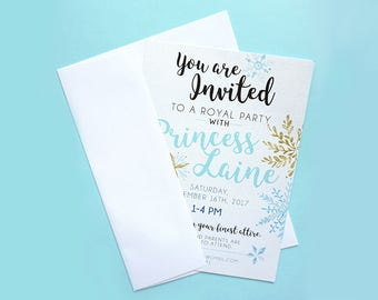 Snowflake Party: Invitations Customizable