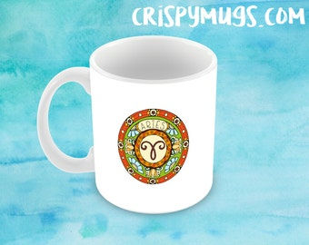 Aries Zodiac Sign  - Handmade 11oz Coffee Mug