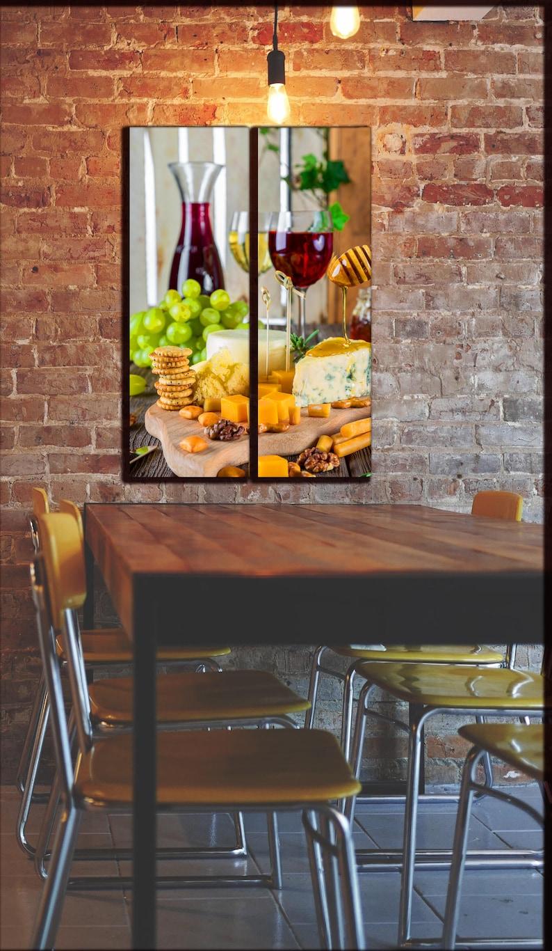 kitchen wine wall art / winery theme canvas wall decor
