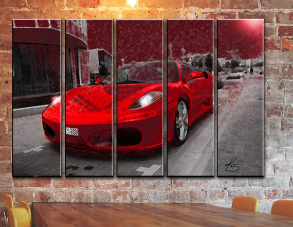 LARGE SET 1/3/5/6 Panel Ferrari Canvas Wall Art Framed Picture | Etsy