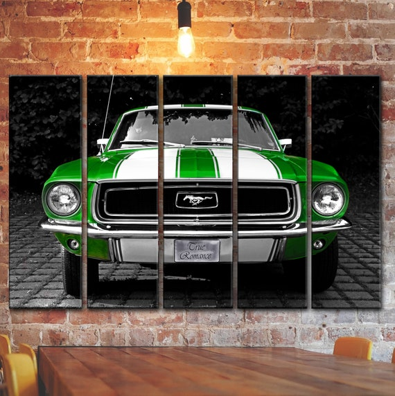 Vintage Classic Ford Mustang Wall Art Picture Muscle Car Etsy