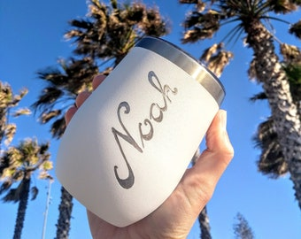 Personalised Stainless Steel Reusable Insulated Travel Mugs, Engraved By Hand, Personalised Reusable Tumbler, Coffee Mug, Eco-friendly Gift