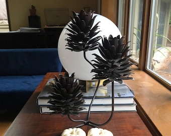 Pine Cone Candelabra / Nature Inspired Home Decor / Candle Holder / Centerpiece