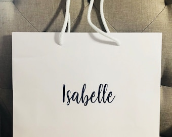 Personalised Gift Bags Wedding Or Birthday Bag With Name Bride Bridesmaid Etc
