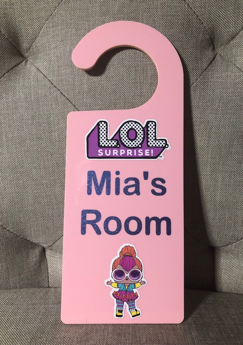 LOL Surprise doll door hanger  Personalised with name
