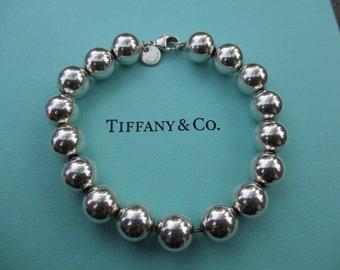 63590eb7c Genuine Tiffany & Co 10mm bead bracelet - sterling silver