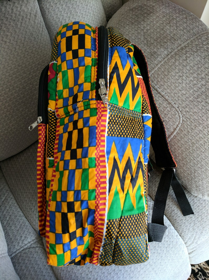 medium Kente Print Design Backpack