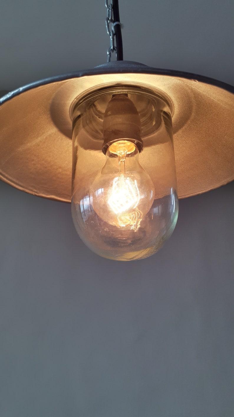 Vintage industrial light Rotary lighting Factory light Rare light Vintage enamel pendant Industrial lighting Industrial pendant light