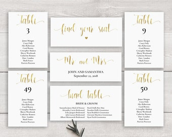 printable seating chart cards 5x7 wedding seating chart etsy