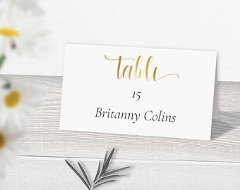 sale 25 off gold wedding place card template download gold printable place cards escort cards gold place cards table place cards diy
