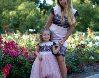 Mutter passende PfirsichEtsy Kleider Tochter Outfits Kleid PiuTOZkX