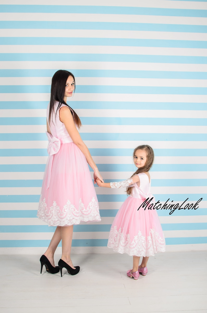 07d784b72 Pink Mommy and Me Dress Tulle Mother Daughter Matching Dress | Etsy