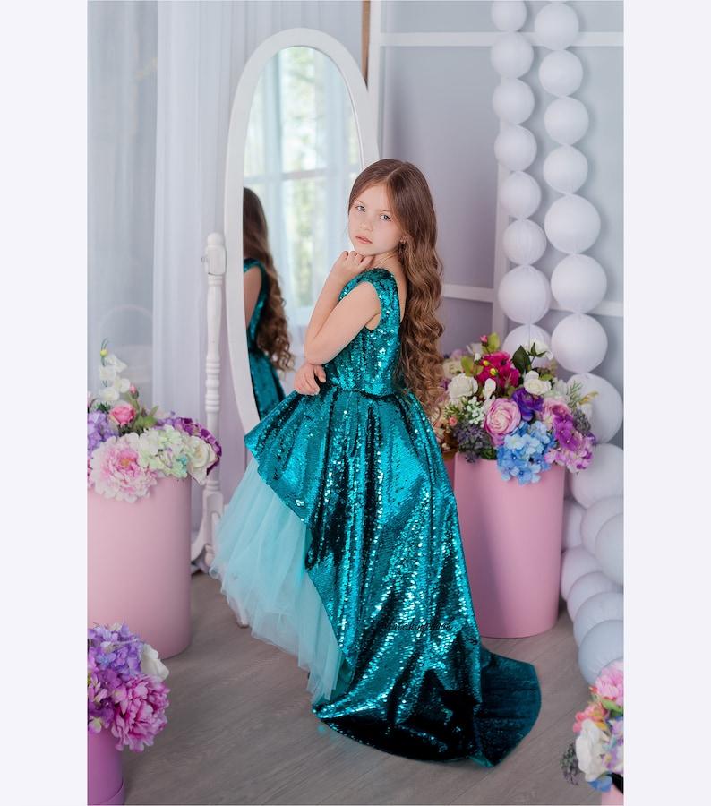 9ef346ee47 Flower Girl Dress Princess dress Little Mermaid Dress 1st